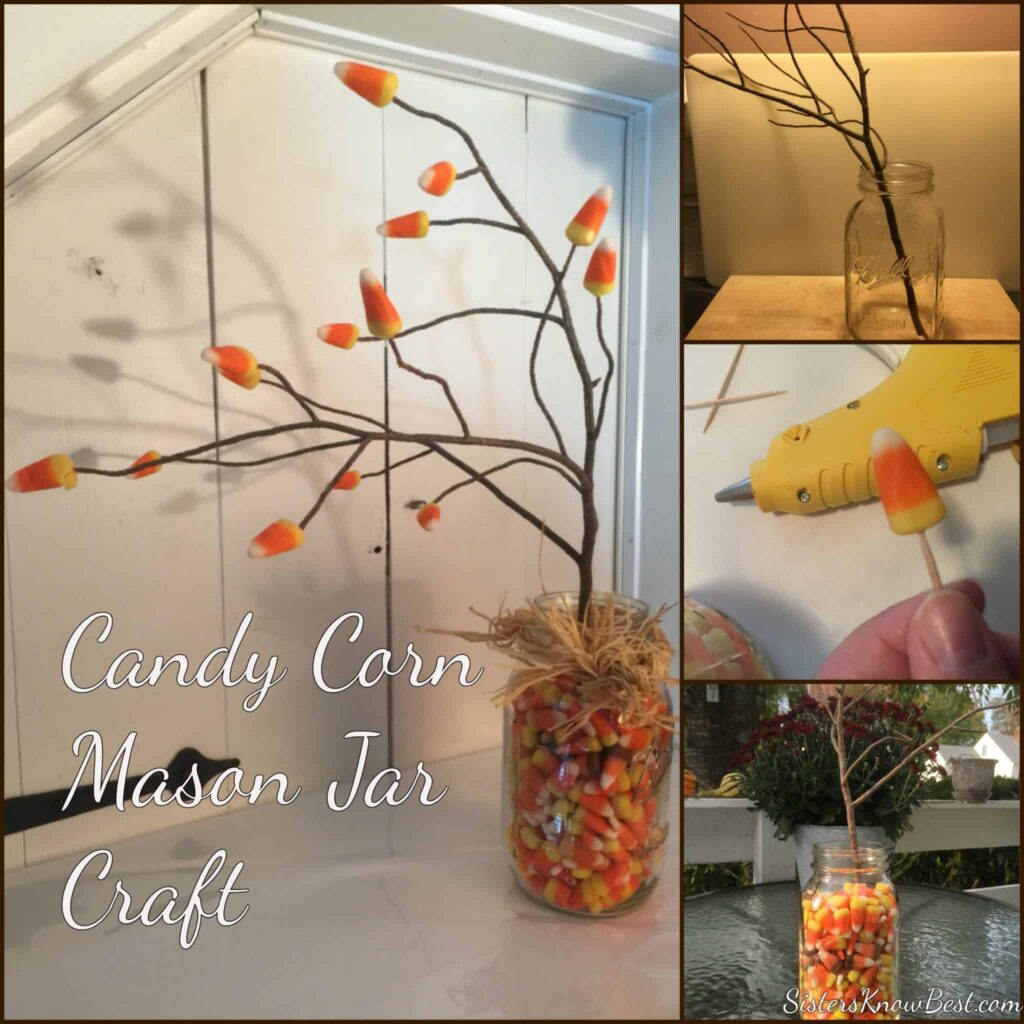 Candy Corn Mason Jar DIY Craft for Halloween