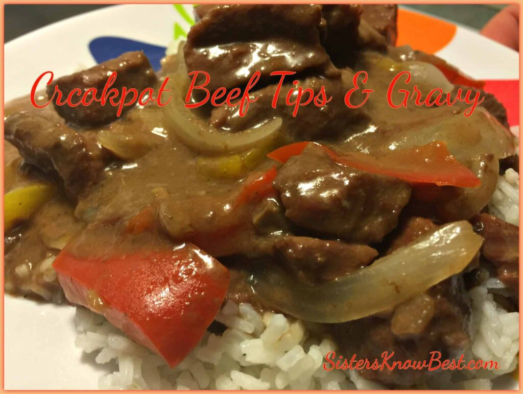 Crockpot Beef Tips and Gravy
