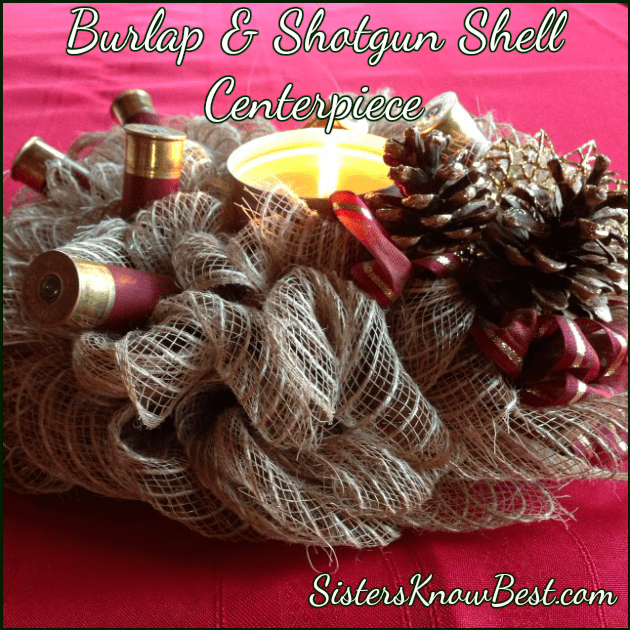 Burlap and Shotgun Shell Wreath