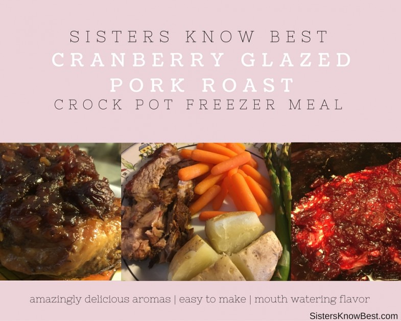 Cranberry Glazed Pork Roast for the Crockpot