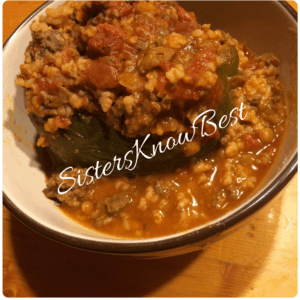 Lentil and Sausage Stuffed Peppers