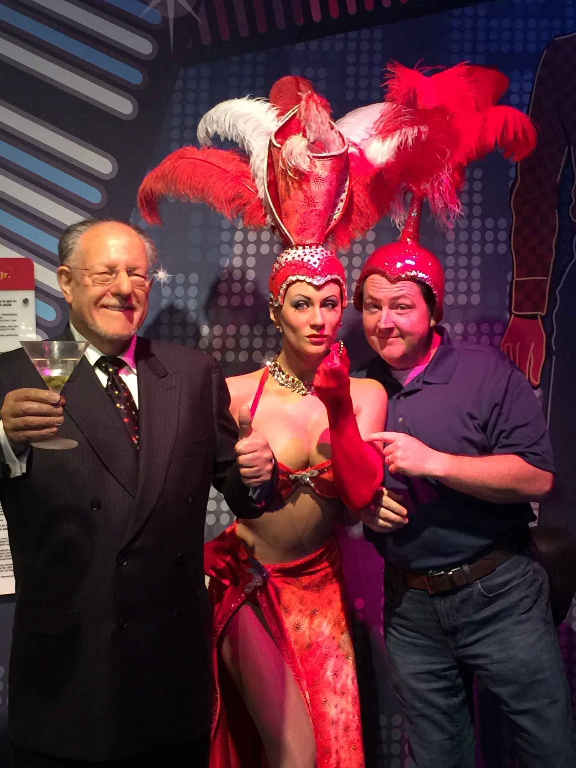 Bill as a showgirl in Las Vegas