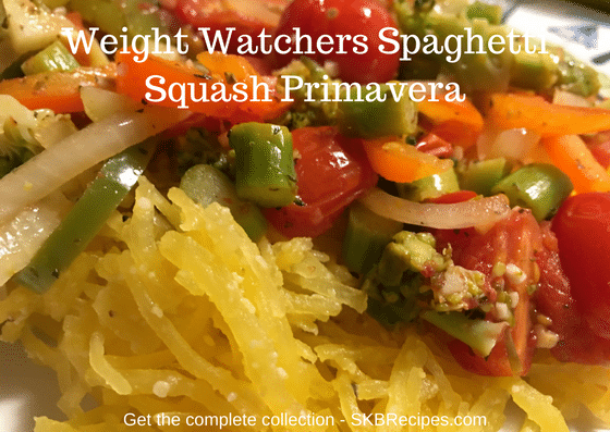 Weight Watchers Spaghetti Squash Primavera