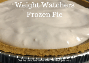 Weight Watchers Frozen Pie by SKBrecipes.com