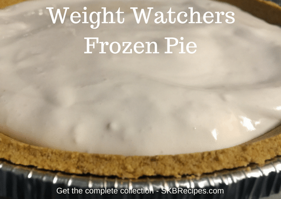 Weight Watchers Frozen Pie