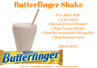 Butterfinger Protein Shake Recipe by SKB Recipes