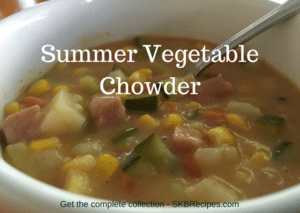 Summer Vegetable Chowder by SKBrecipes.com
