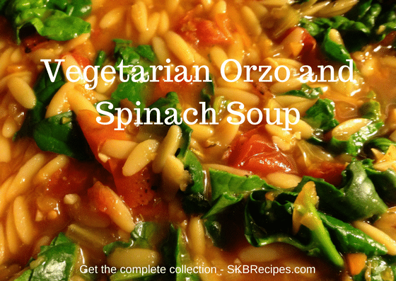 Vegetarian Orzo and Spinach Soup