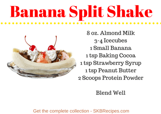 Banana Split Shake by SKBrecipes.com