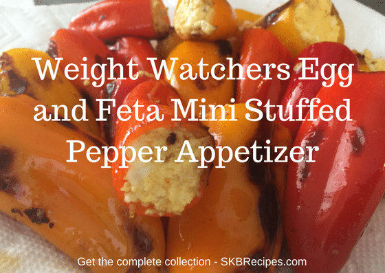 Weight Watchers Egg and Feta Mini Stuffed Pepper Appetizer by SKBrecipes.com