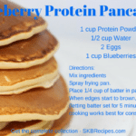 Blueberry Protein Pancakes by SKB Recipes