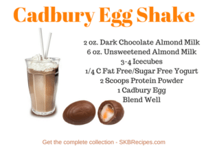 Cadbury Egg Shake by SKBrecipes.com