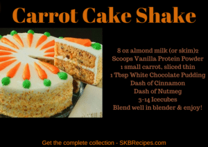Carrot Cake Shake by SKBrecipes.com