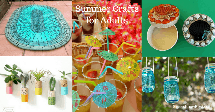 Summer crafts for adults diy projects for grown ups Summer craft ideas for adults