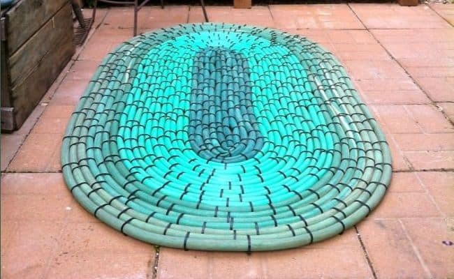 Rug made from old hoses