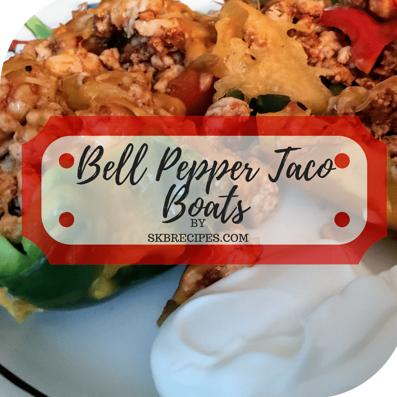 Bell Pepper Taco Boats by SKBRECIPES.COM