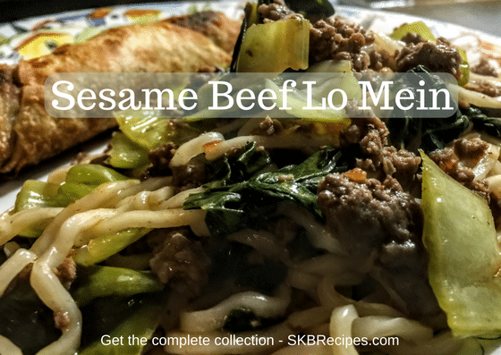 Sesame Beef Lo Mein by SKBrecipes.com