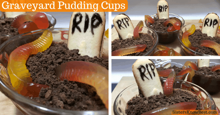 Graveyard Pudding Treats for Halloween by Sisters Know Best