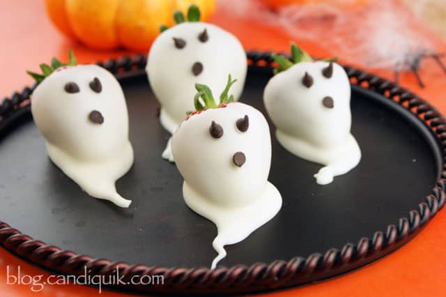 Strawberry Ghosts for Halloween