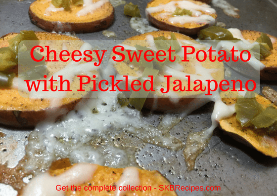 Cheesy Sweet Potato with Pickled Jalapeno