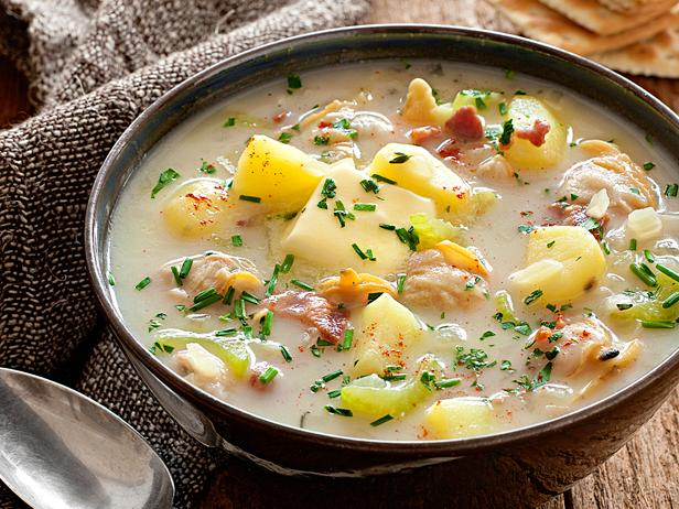 low-fat clam chowder from Food Network