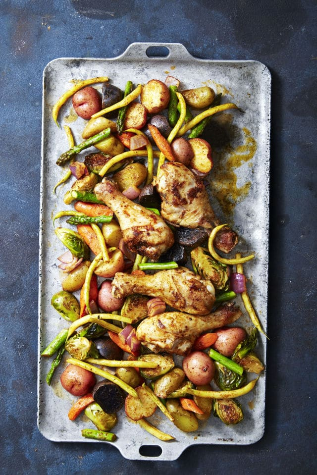 glazed chicken veggie bake