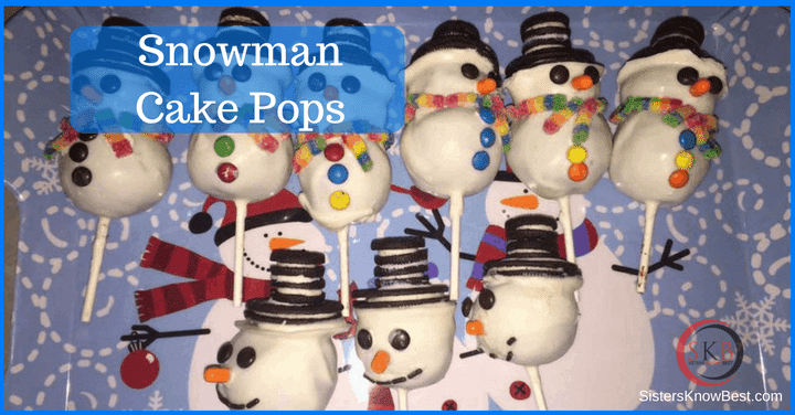 Snowman Cake Pops make an easy dessert!
