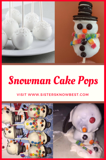 Snowman Cake Pops by SistersKnowBest.com