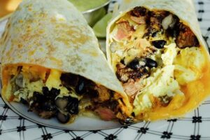 campfire food burritos for breakfast