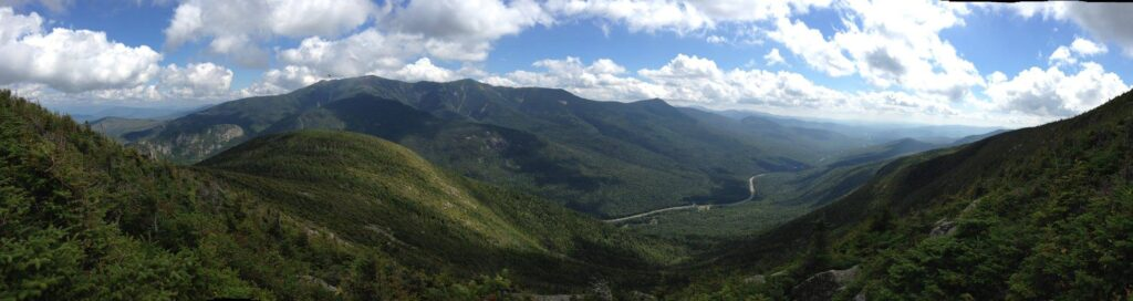Pano view from top of Cannon Mountain New Hampshire