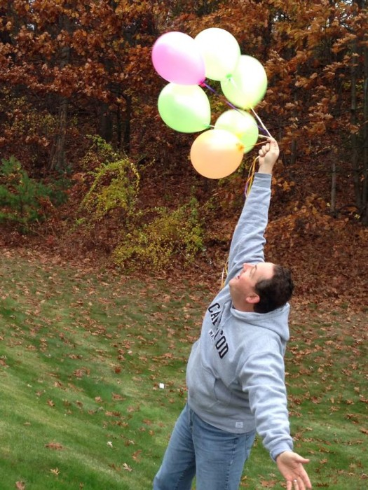 Bill with balloons