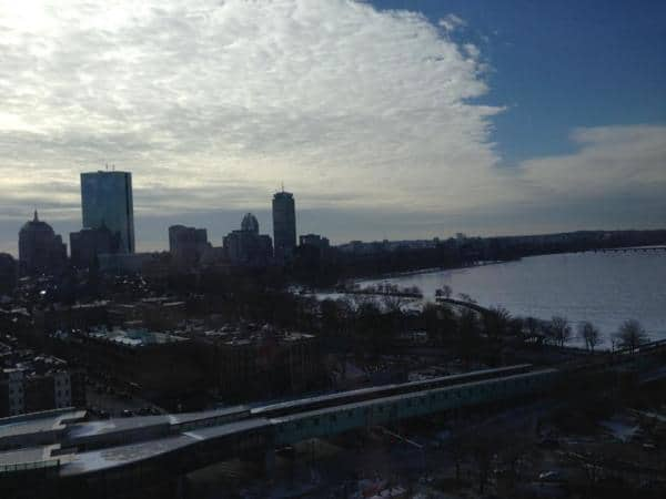 A view of the Charles River from Liberty Hotel