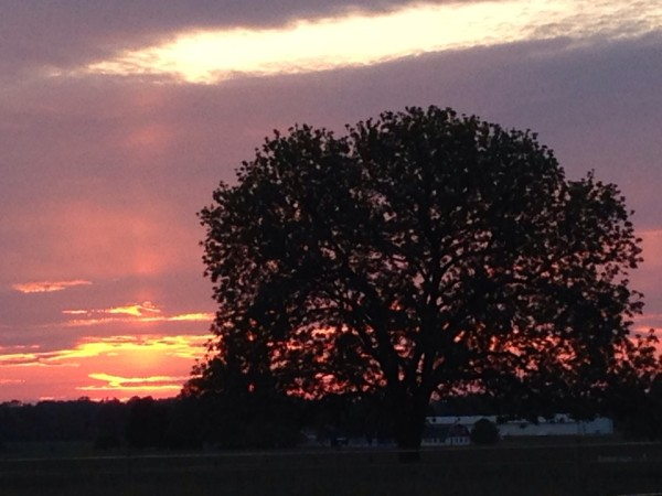 Sunset in Lancaster County PA