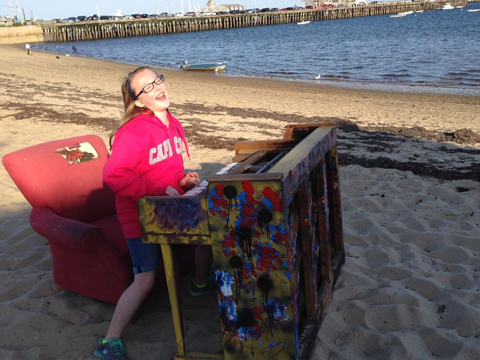 Piano found on the beach in Provincetown