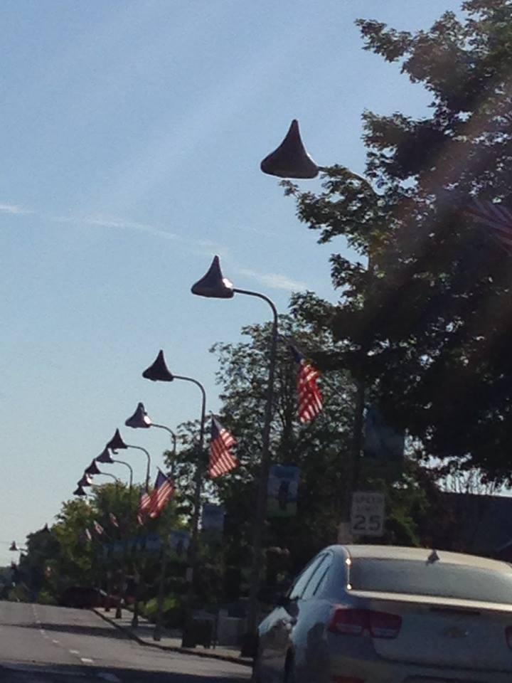 Street lights in Hershey PA are Hershey Kisses