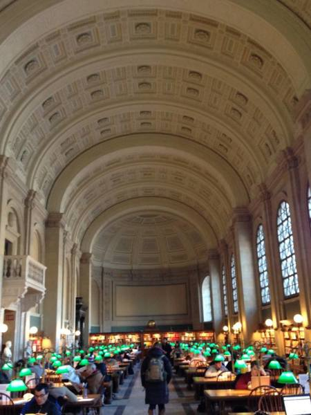 Main study area of Boston Public Library