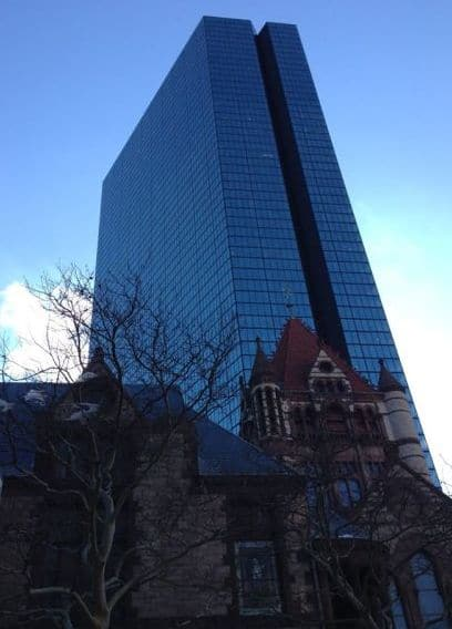 Trinity Church with John Hancock Building